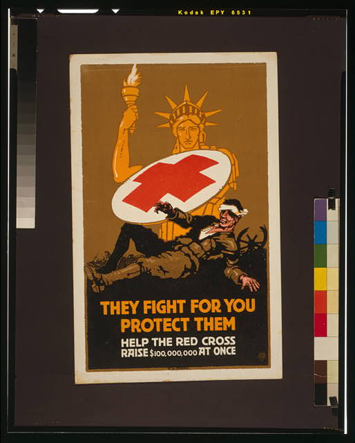 They fight for you - protect them Help the Red Cross raise $100,000,000 at once /