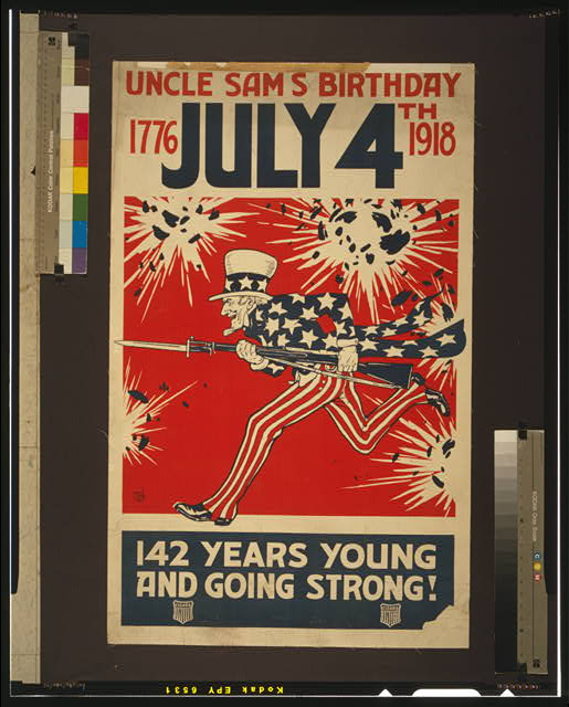 Uncle Sam's birthday July 4th 1776-1918 142 years young and going strong!