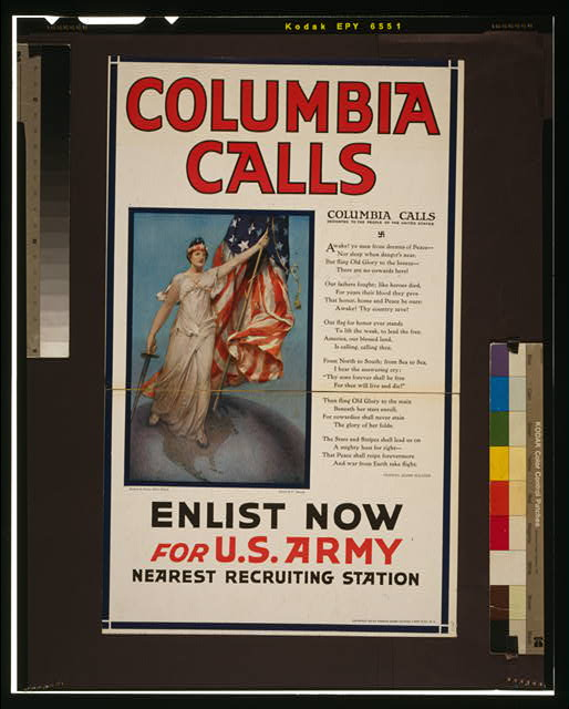 Columbia calls--Enlist now for U.S. Army