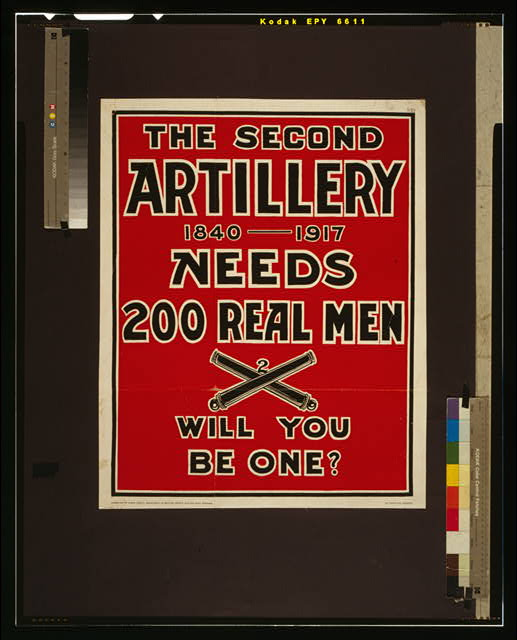 The Second Artillery 1840-1917 needs 200 real men--Will you be one?