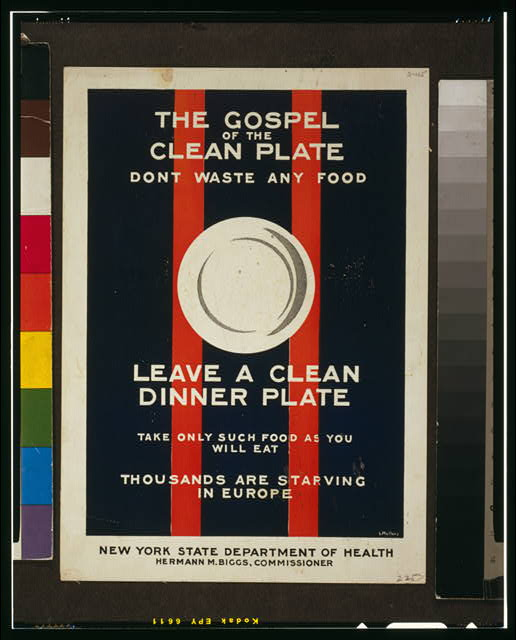 The gospel of the clean plate, don't waste any food