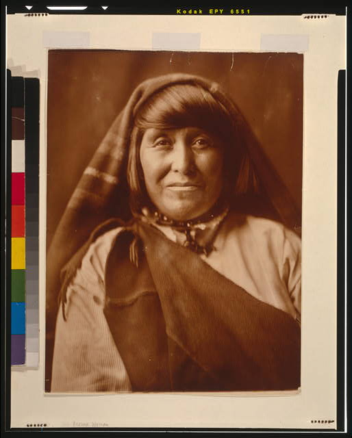 [An Acoma woman, head-and-shoulders portrait, facing front]