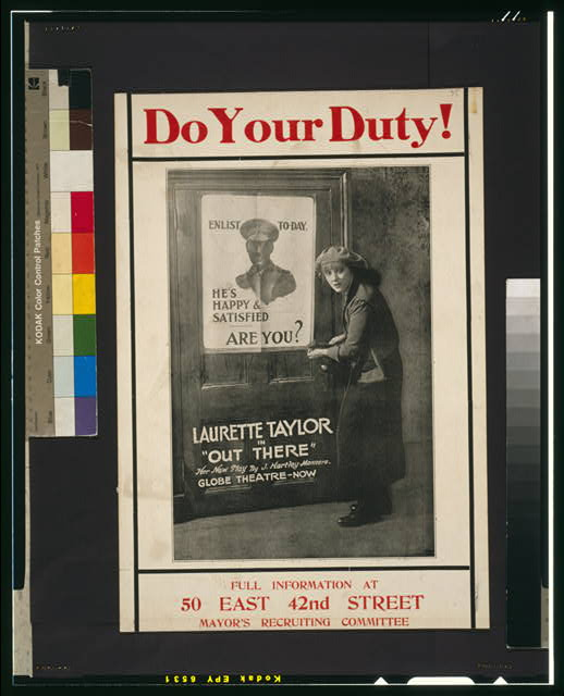 Do your duty! Full information at 50 East 42nd Street, Mayor's Recruiting Committee.