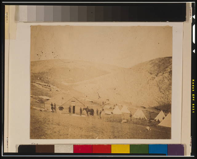 Camp of the 4th Dragoon Guards near Karyni