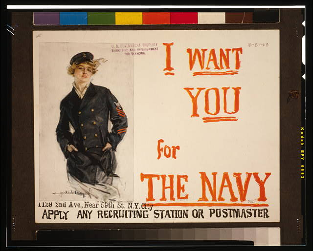 I want you for the Navy Apply any recruiting station or postmaster /