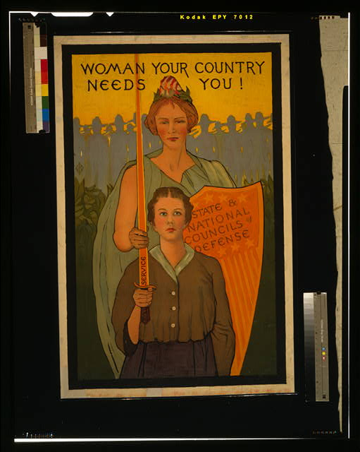 Woman your country needs you!
