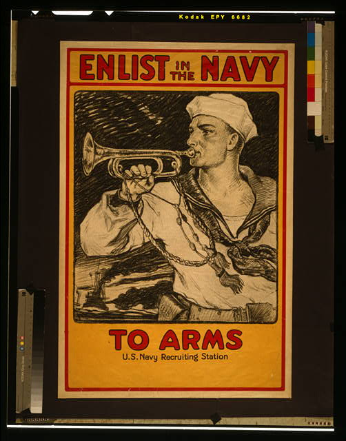 Enlist in the Navy To arms /
