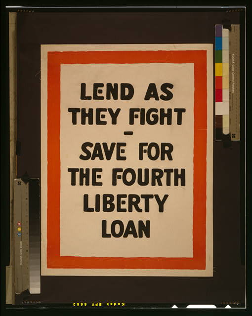 Lend as they fight - Save for the fourth Liberty Loan