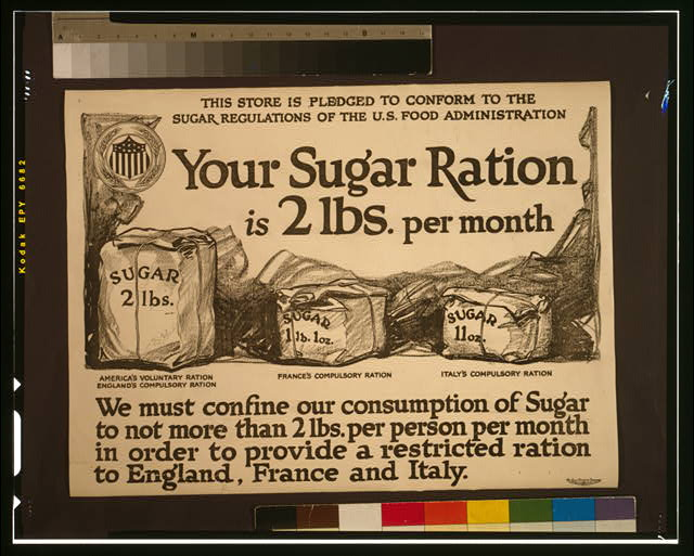 Your sugar ration is 2 lbs. per month