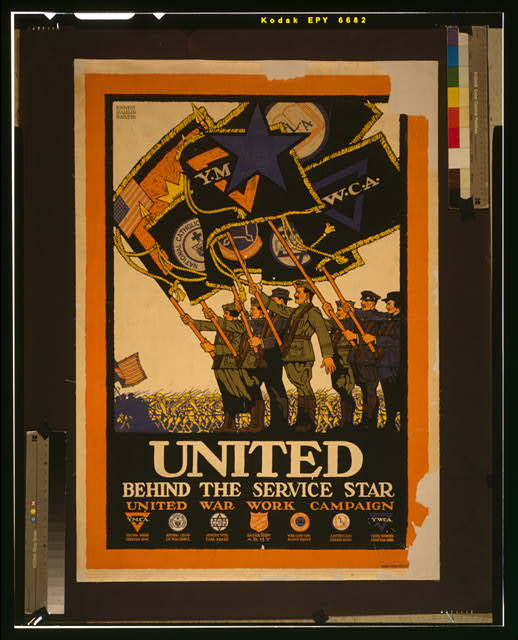 United behind the service star, United War Work Campaign