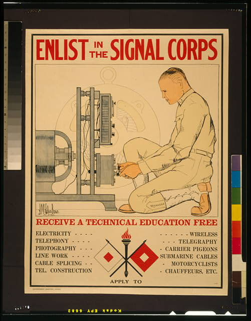 Enlist in the Signal Corps--Receive a technical education free