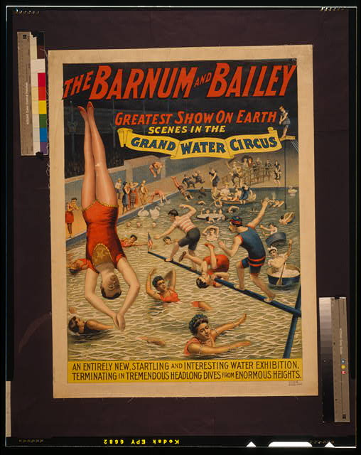 The Barnum & Bailey greatest show on earth Scenes in the grand water circus /