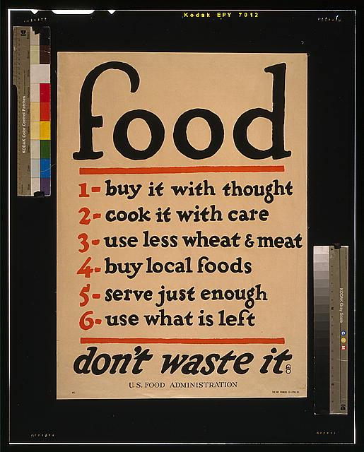 Food--don't waste it