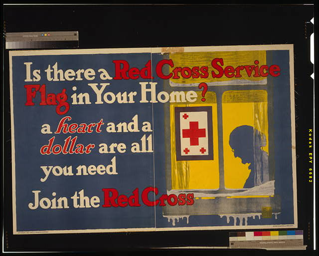 Is there a Red Cross service flag in your home? A heart and a dollar are all you need - Join the Red Cross