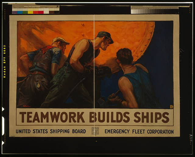 Teamwork builds ships