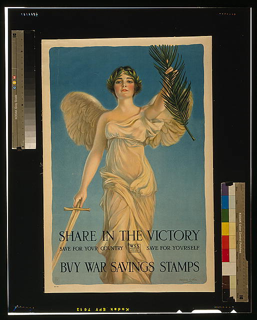 Share in the victory--Save for your country--Save for yourself--Buy War Savings Stamps