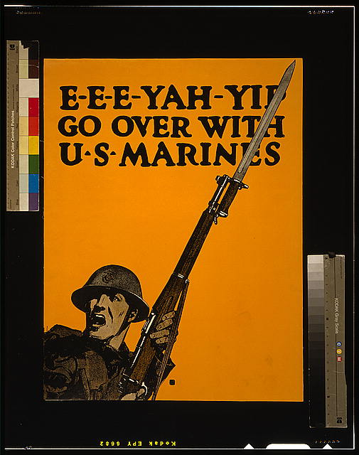 E-e-e-yah-yip Go over with U.S. Marines.