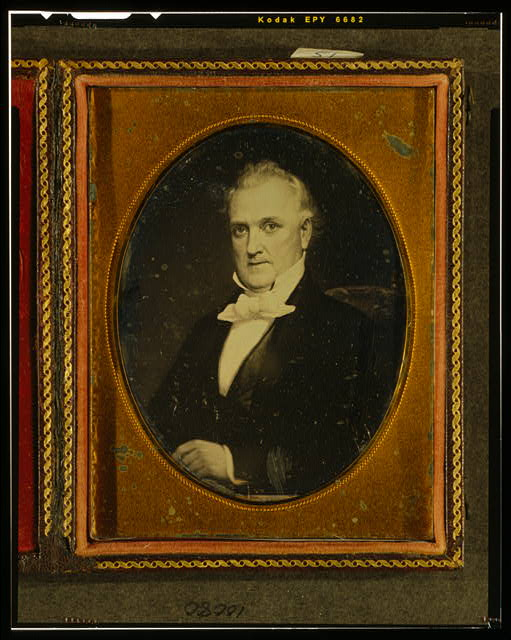 [Painting of James Buchanan, head-and-shoulders portrait, facing left]