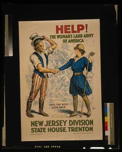 Help! The Woman's Land Army of America, New Jersey Division, State House, Trenton