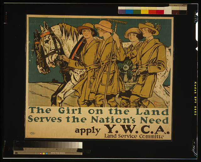 The girl on the land serves the nation's need Apply Y.W.C.A. Land Service Committee /