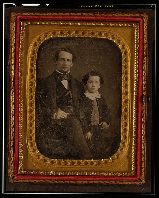 [Unidentified man and boy]