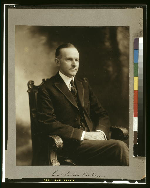 Gov'r Calvin Coolidge