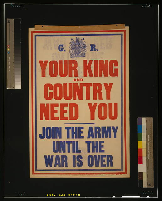 Your king and country need you. Join the army until the war is over
