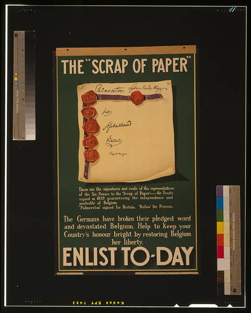 "The ""scrap of paper."" Enlist to-day"
