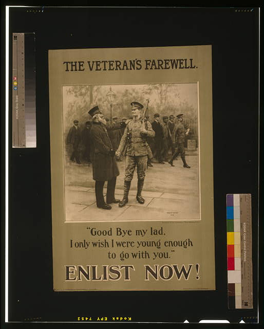 The veteran's farewell. Enlist now!
