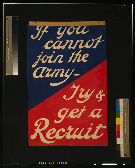 If you cannot join the army - Try & get a recruit