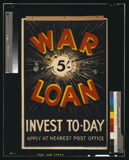 War loan. Invest to-day. Apply at nearest post office