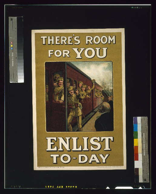 There&#39;s room for you. Enlist to-day
