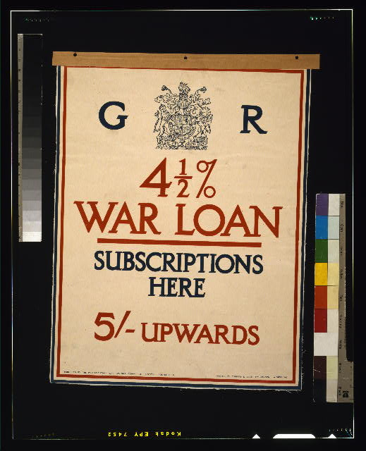 4 1/2% war loan subscriptions here