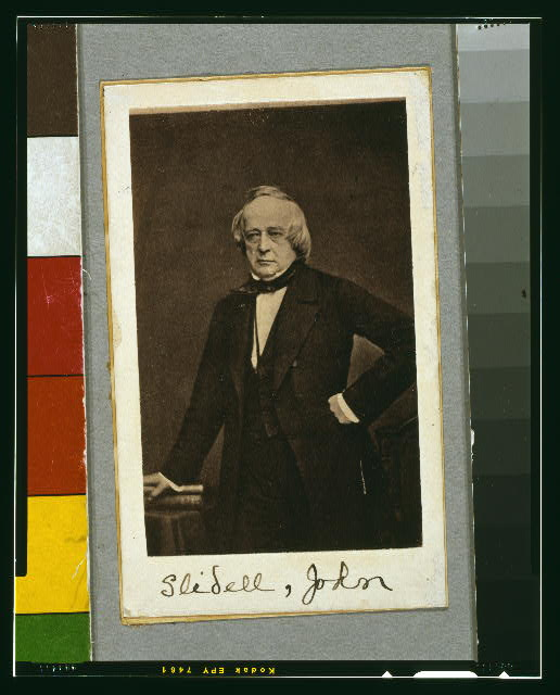 [John Slidell, three-quarter length portrait, standing, left arm on hip, facing front]