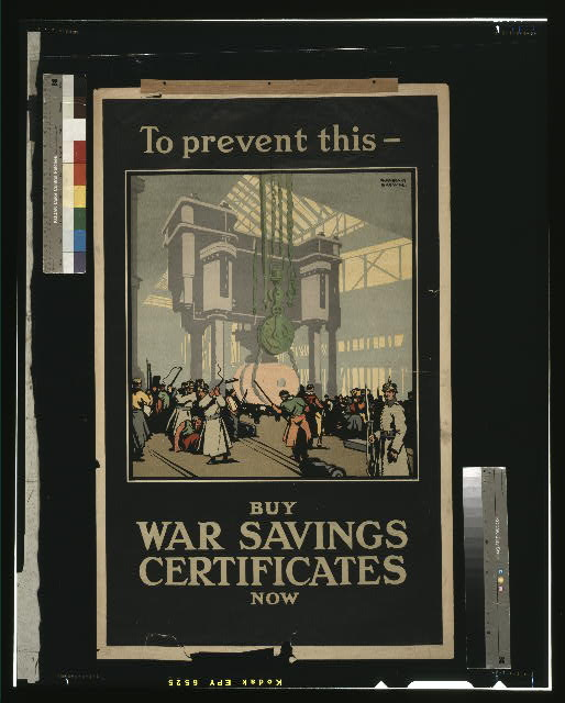 To prevent this - buy war savings certificates now