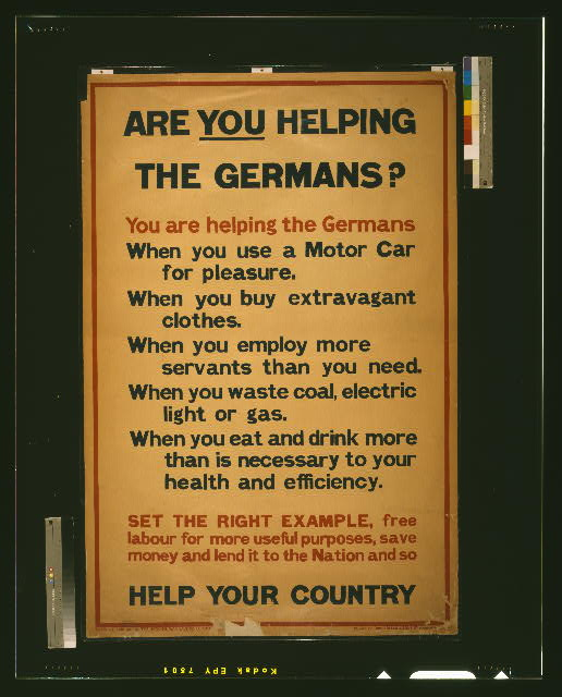 Are you helping the Germans?