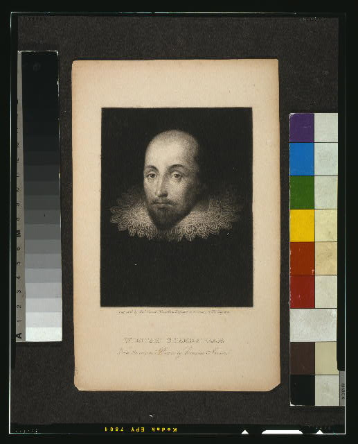 William Shakespear - from the original picture by Cornelius Jansen