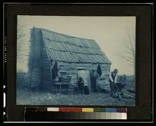 [Old time cabin]
