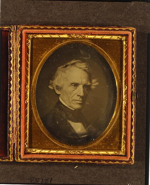 [Samuel F. B. Morse, head-and-shoulders portrait, facing right]