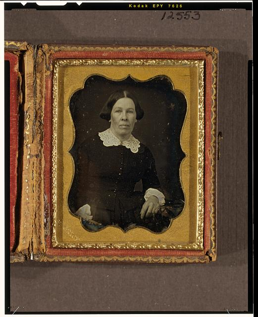 [Unidentified woman, half-length portrait, facing front]