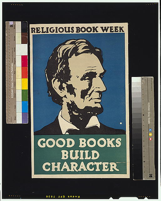 Religious book week. Good books build character