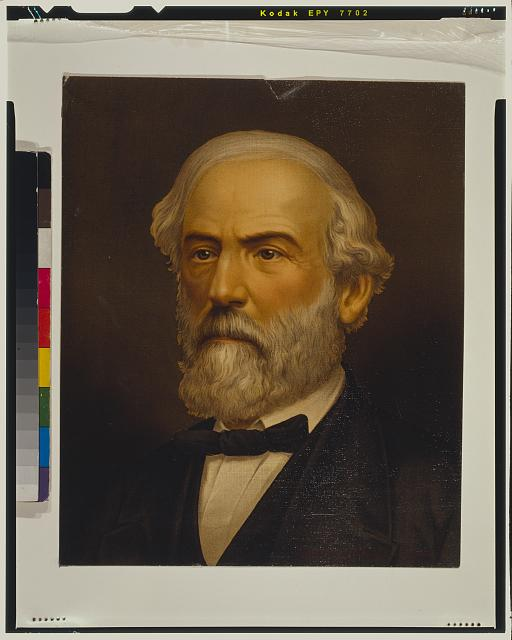 [Robert Edward Lee, head-and-shoulders portrait, facing left]
