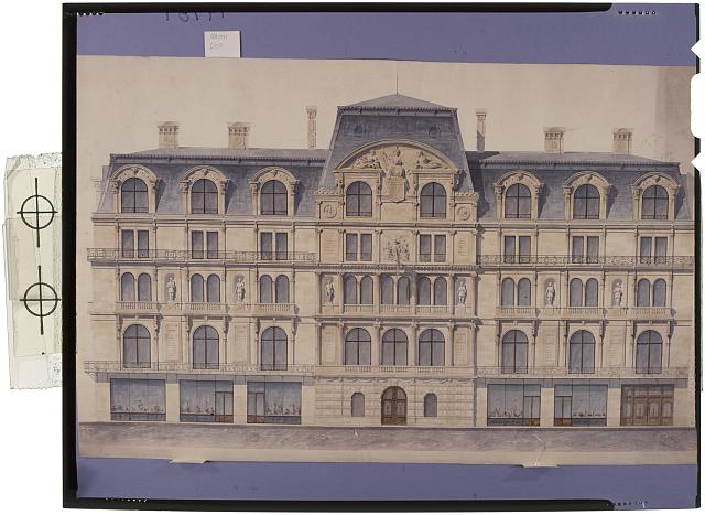 [Union League Club, New York City (project). Elevation. Rendering]