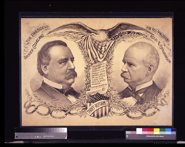 For President, Grover Cleveland, for Vice-President, Adlai E. Stevenson
