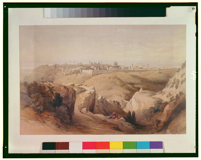 Jerusalem from the Mount of Olives April 8th 1839