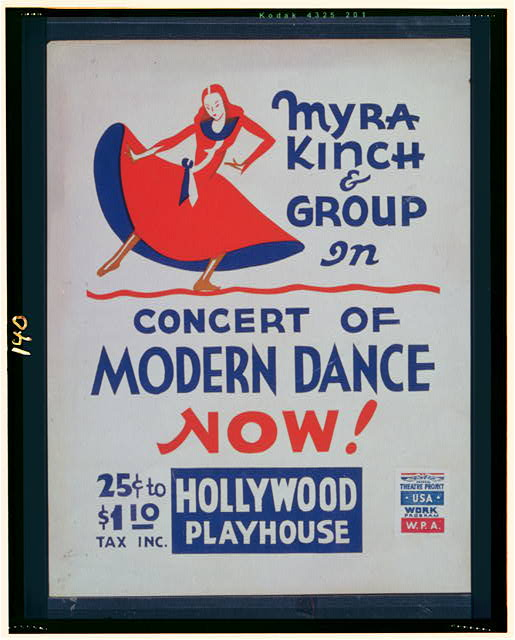 Myra Kinch & group in concert of modern dance now!