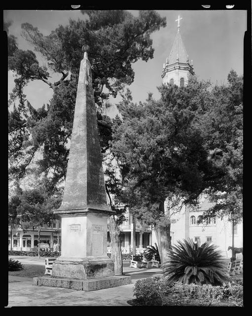 Constitution Monument in Plaza, St. Augustine, St. Johns County, Florida