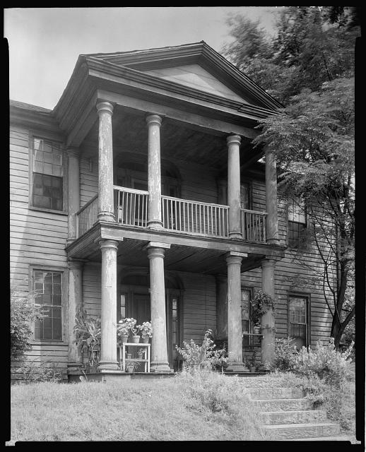 Golding - Gerdine House, Columned Porch, Athens, Clarke County, Georgia