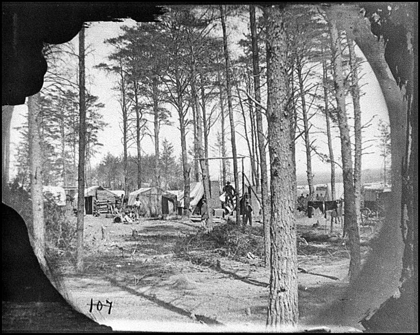 [Brandy Station, Va. Winter quarters of telegraphers and photographers, Army of the Potomac headquarters]