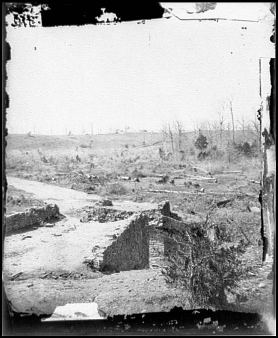 [Bull Run, Va. Ruins of the stone bridge, looking upstream]
